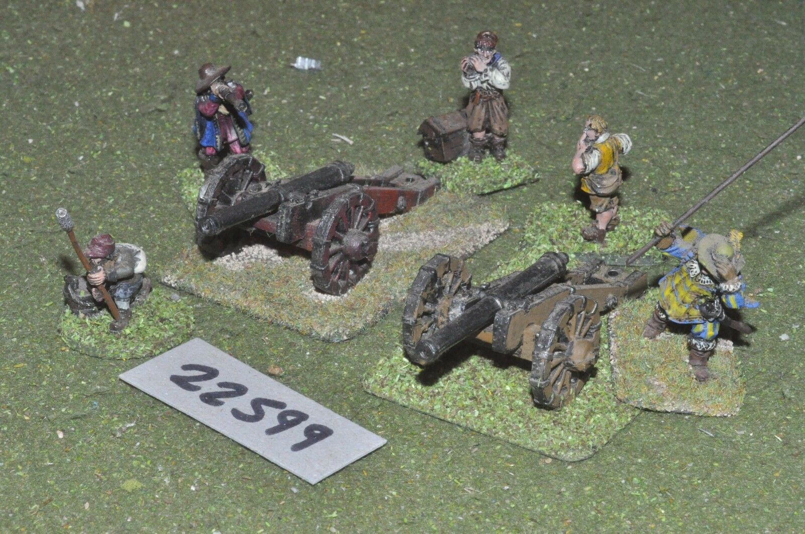 25mm ECW   english - civil war 2 guns & crews art - art (22599)