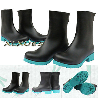 Handmade Vocaloid Hatsune Miku Cosplay Boots Shoes Customized High Quality