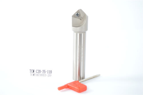 45° (5mm-25mm)Chamfering drill tool holder TCM C20-25-110-1F FOR TCMT16T304