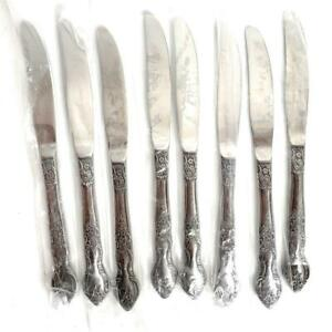 "NEW OLD STOCK 8 PC 9"" Dinner Knives Flatware Silverware ELLEN VANCE by SEARS"
