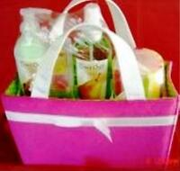 Time Out Perfect Pear 4 Pc Bath Set With Bright Pink Terry Shopper