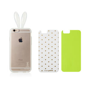 top fashion 49bcc 16733 Details about Rabito Bunny Rabbit Ear iPhone 6S 6 Changeable Clear  Transparent Skin Cover Case