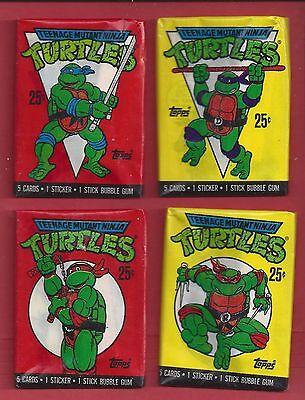 1989 Topps Teenage Mutant Ninja Turtle series 1 single Wax Pack