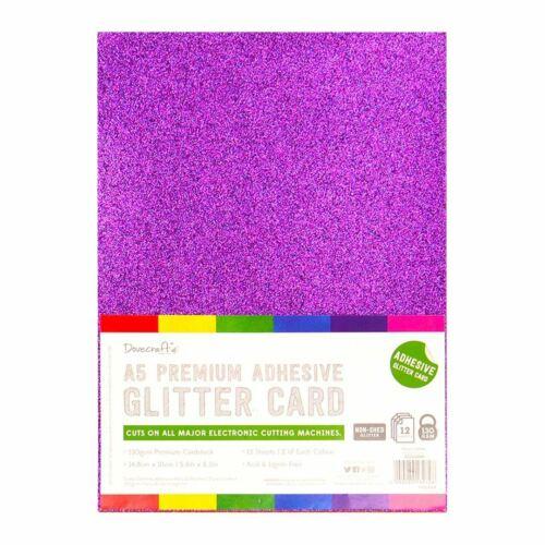 Dovecraft Hojas De Brillo Adhesivo A5-Arco Iris Brillante 12 Hojas 350gsm