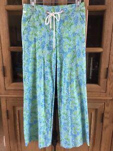 Dragonfly Lilly lino Beach Pulitzer Palm misto Fit Blue 0 pantaloni in taglia vUqHav