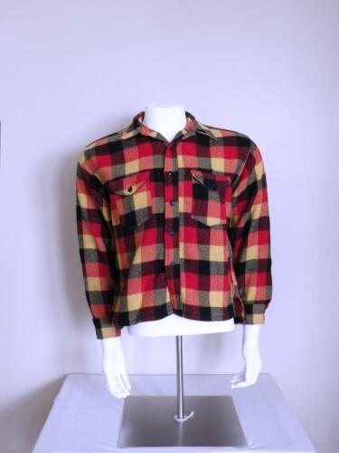 vtg 1930s 1940s rockabilly SWEET ORR buffalo plaid
