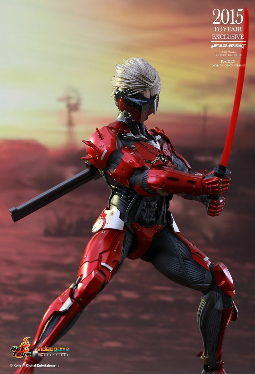 Hot Toys hottoys Raiden Inferno Armor Version Metal Gear Rising 1 6 Figure VGM19