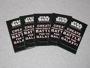 lot of 5 star wars miniatures battle for the galaxy promotional