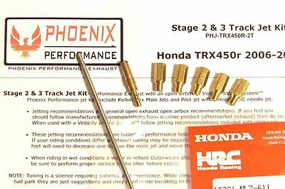 TRX450R 06-14 Stage 2 & 3 Track Jet Kit with HRC Needle, Honda 450 450r