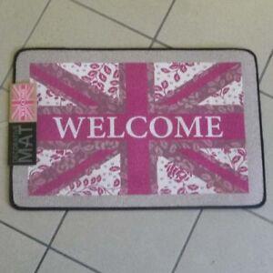 otter-house-Paillasson-Bienvenue-LAVABLE-43x66cm-Grande-Bretagne