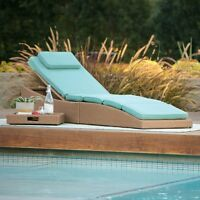 Coral Coast Tanna Wicker Folding Outdoor Chaise Lounger with Cushion