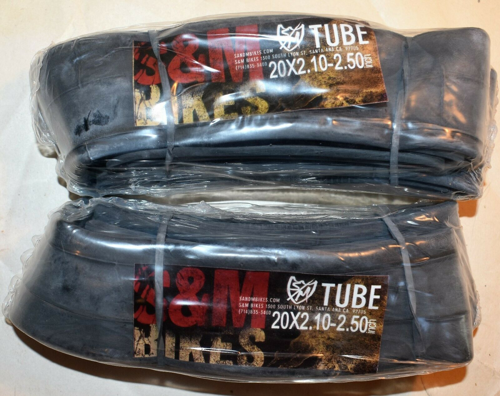 environ 50.80 cm Inner tubes Paire pour s/'adapter à pneus 20x2.1 à 20x2.5 pour Vélo BMX S/&m 20 in