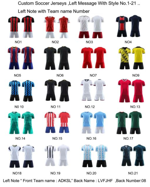 Custom Personalized Soccer Jersey+Shorts Adults Teenage Youth Kids More Choice