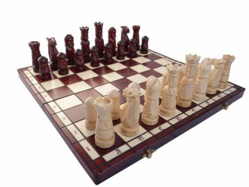 Edles grosses Schach Schachspiel 50 x 50 cm Geschnitzt HANDGESCHNITZT NEU Holz