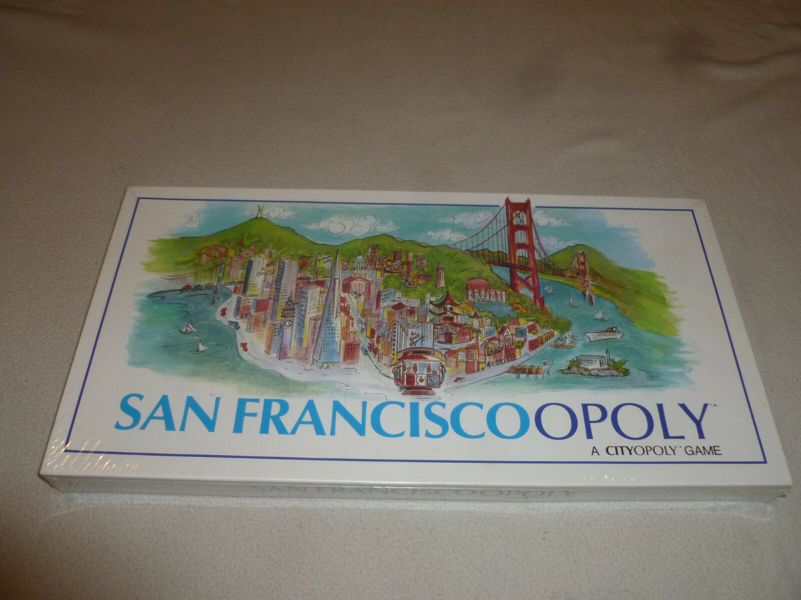 NEW SEALED MONOPOLY SAN FRANCISCO OPOLY CITYOPOLY BOARD GAME VINTAGE 1988 NISB