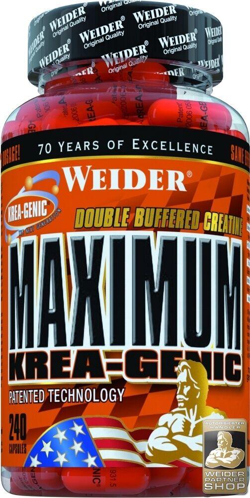 Weider Maximum Krea Genic Dose 240 Kapseln (21,15 EUR/100 EUR/100 (21,15 g) 296052