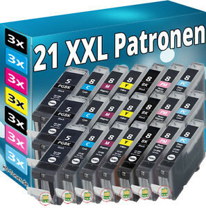 21x Inchiostro Cartucce per Canon ip6600d ip6700d mp950 pro9000+ foto cli-8pm cli-8pc