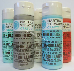 New-Martha-Stewart-Crafts-Acrylic-High-Gloss-Paint-Decorative-Art-Select-Colour