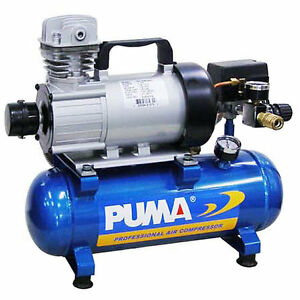 Puma 3 4 hp 1 5 gallon 12 volt continuous duty dc air for 1 4 hp 12v dc electric motor