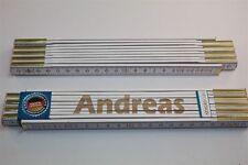 Zollstock mit Namen     ANDREAS   Lasergravur 2 Meter Handwerkerqualität