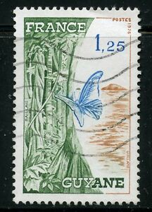 STAMP-TIMBRE-FRANCE-OBLITERE-N-1865A-FAUNE-PAPILLON-GUYANE