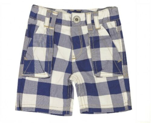 Steiff 6713515 Bermuda Bermuda Shorts Pantaloni Corti TEDDY ORSO 0002 A QUADRI BLU
