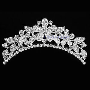 Wedding-Bride-Rhinestone-Crystal-Flower-Hair-Headband-Crown-Comb-Tiara-Hair-Clip