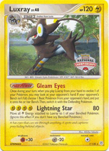 Pokemon Promo Card 2008 National Championship Luxray 7//130 MINT!!