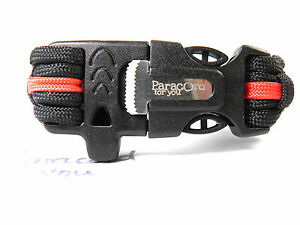 Fire Brigade Firefighter Armband-6 Closures To Auswahl-Red Thin Line-Paracord