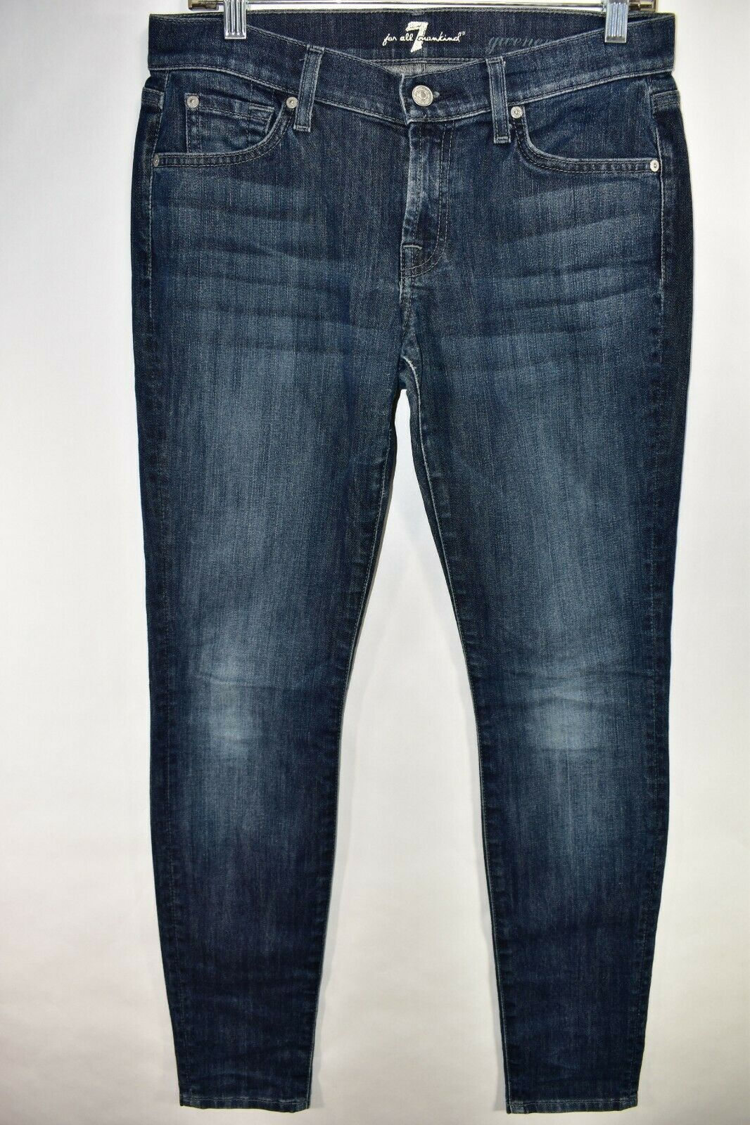 Seven 7 For All Mankind Gwenevere Womens bluee Jeans Skinny Tag 28 Meas 30x31