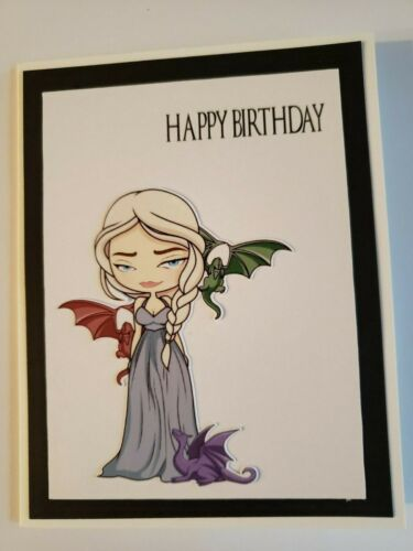 GAME OF THRONES BIRTHDAY CARD GREETING CARD HAND MADE