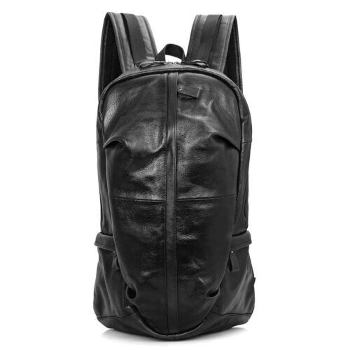 Men Bull Leather Backpack Large Capacity Luggage Bookbag Travel Shoulder Bag