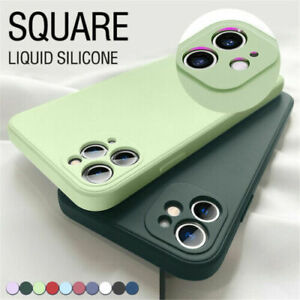 Liquid Silicone Case For iPhone 11 12 Pro Max XS XR 8 7 SE X Camera Lens Cover