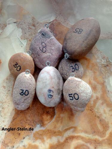 ohne Blei Naturstein 5er Set Karpfen und Grundblei Gewichte aus Stein