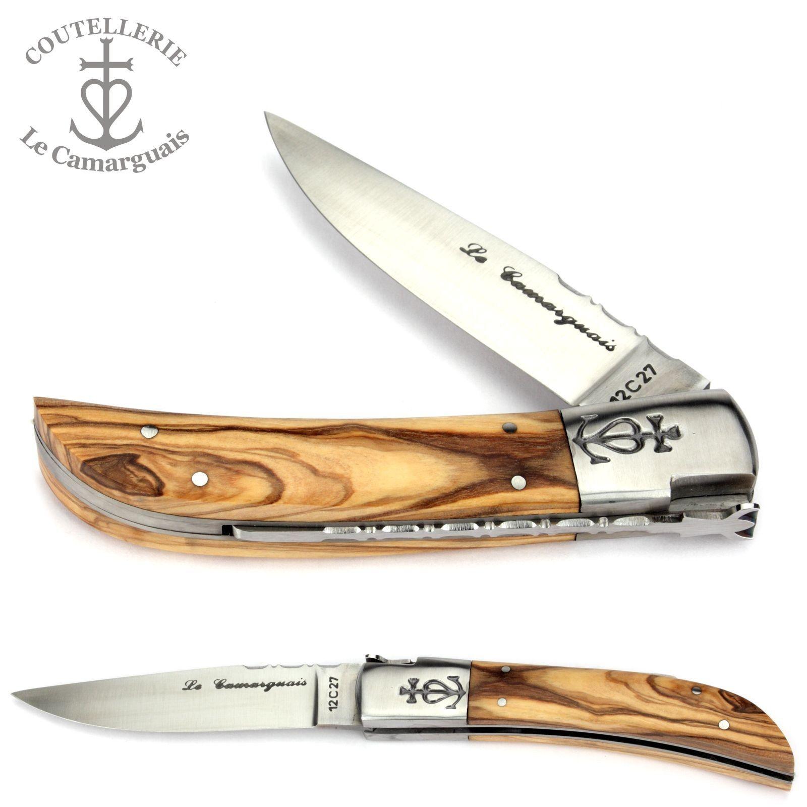 Le Camarguais 12 cm Taschenmesser 20007 Olivenholz Messer aus Frankreich