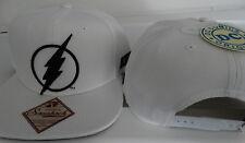 The Flash Logo DC Comics White Snap Back Hat
