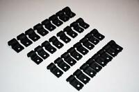 32 Piece Set Black Plastic Brake Fuel Line Clamps Chevy Ford Gm Street Rod Clamp