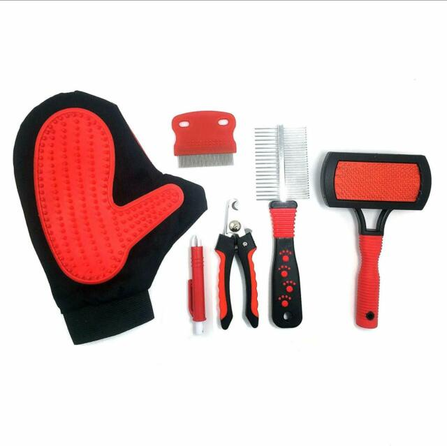 Jeffers FLEXIBLE RUBBER SHEDDING GLOVE Dog Horse Grooming Tool Ambidextrous New