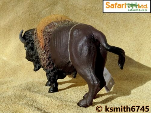 NEW * Safari old style BISON solid plastic toy wild zoo American animal
