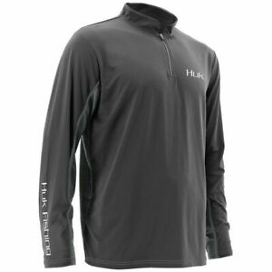 Huk Performance Fishing Gray Icon Shirt Sz 2XL XXL NEW NWT