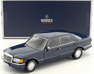Norev183465 - Voiture Berline Mercedes 560 Sel Couleur Bleue De 1991 1/18