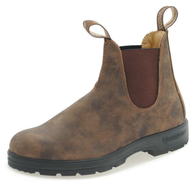 fd43bfee0b2d Blundstone Style 585 Rustic Brown Nubuck Leather Australian Chelsea Boots