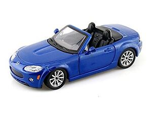 Bburago 18 21039 Mazda Mx 5 Miata 1 24 Diecast Model Car Blue Ebay