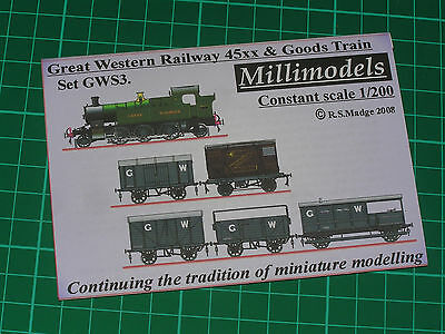 Millimodels Card//paper model L/&Y Railway goods train set LYS1 1//200 scale