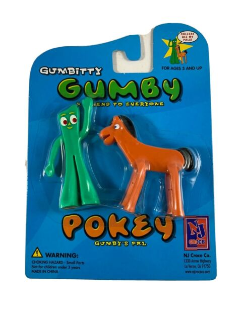 Bendable Character Action Figure NJ Croce Gumby and Pokey Pair Collectible