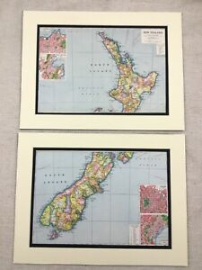 1920-Antique-Prints-Map-of-New-Zealand-Auckland-Christchurch-Wellington-Dunedin