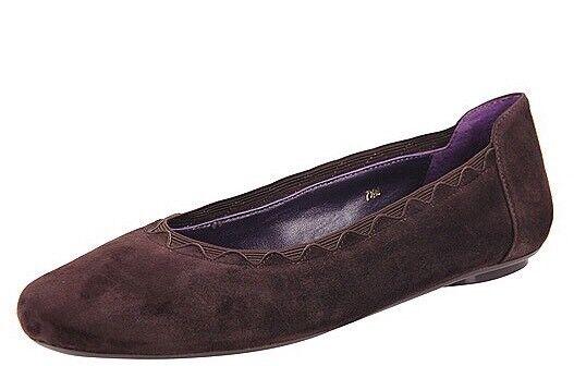 "VANELi Purple Collection ""Busby"" Women's 10 M Brown Suede Elastic Ballet Flats"