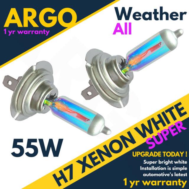 H7 55w Xenon Weiß 6500k HID Allwetter 499 477 Scheinwerfer Lampen Glühbirnen 12v