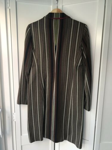 Etro Khaki Brown Ladies 42 Coat 10 Stripe Uk Taglia It rxArBwnq