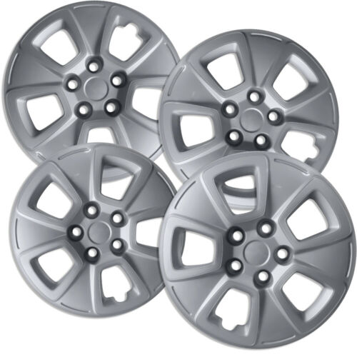 "4 PC Hubcaps Fits 10-13 Kia Soul 15/"" Silver Replacement Wheel Skin Cover"